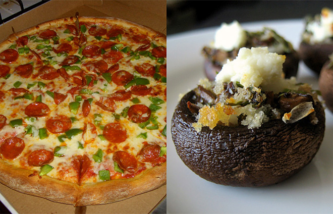Try pizza toppings on a mushroom