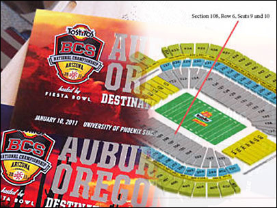 Charity auction for BCS tickets at $11K and counting