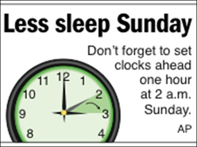 Sign of spring: Daylight saving time starts Sunday