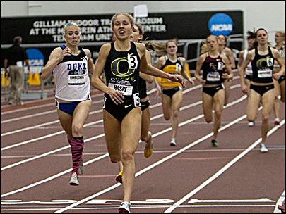 Hasay breaks Oregon's indoor 3K record