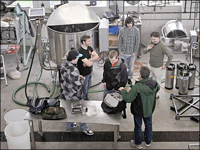 OSU students build barley malter for beer research