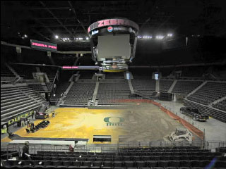 Timelapse: Matt Court transforms from basketball to bull riding