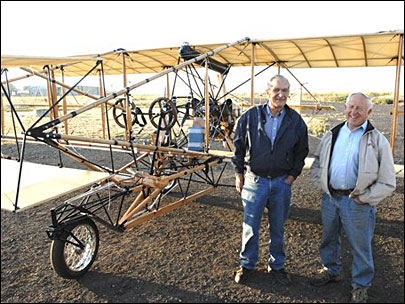 Biplane replica: 'You can't relax, you've got to fly it all the time'