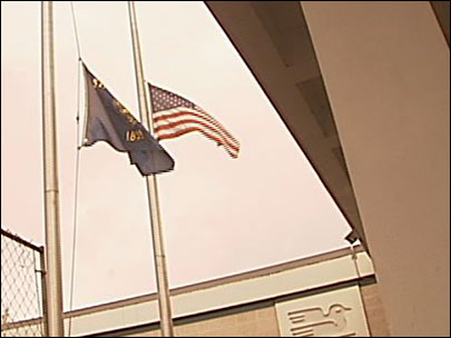 Flags lowered in honor of Officer Kilcullen