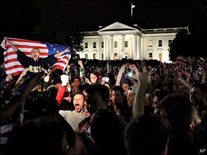 Jubilation in U.S. at news of bin Laden's death