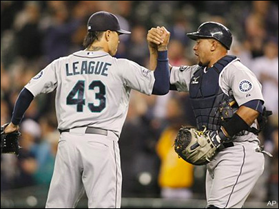 M's deal League to Dodgers; Delabar to Blue Jays