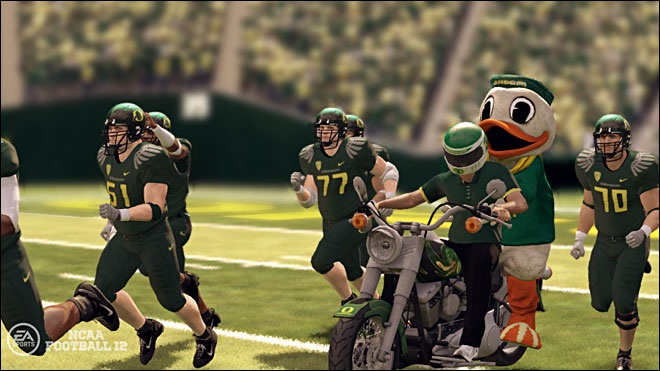 Ducks take on Texas in video game demo