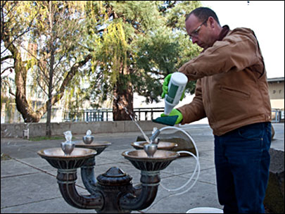 Jobs: Who keeps public water fountains clean?