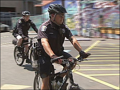 Police target downtown with more officers on bicycles