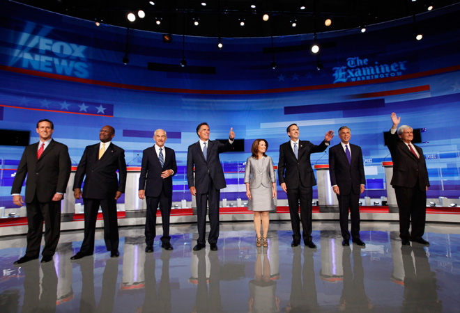 GOP DEBATE: Hitting hard at each other - and Obama | National ...