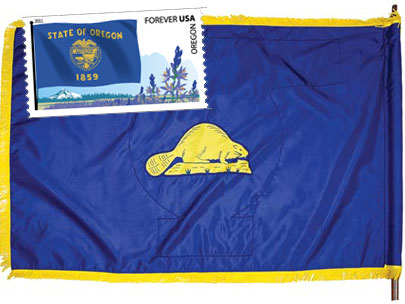 No rodents on Beaver State's flag stamp