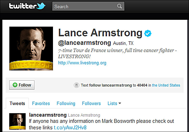 Lance Armstrong: Help find missing Cycle Oregon volunteer