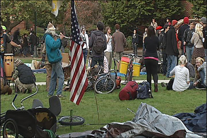 Occupy protesters move to Millrace