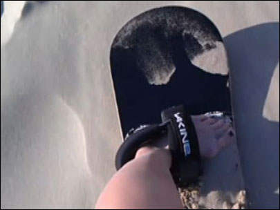 Extreme Katie: Raw video of sandboarding wipeouts