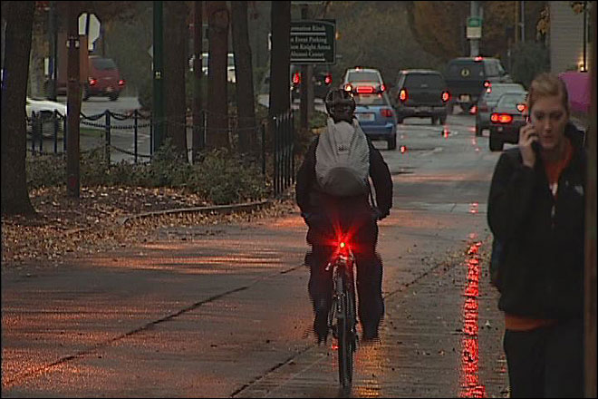 Biking at night: For safety, go beyond what law requires
