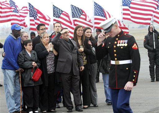 Marine Killed Funeral