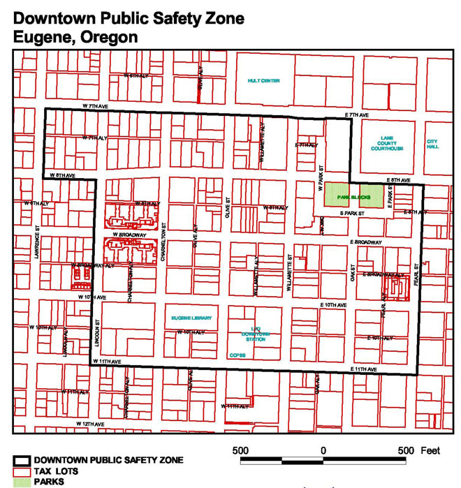 Eugene gives downtown 'exclusion zone' another year