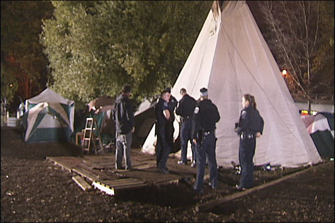 Police give CPR to man found unconscious at Occupy Eugene