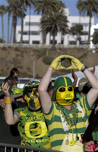 Rose Bowl Oregon Football