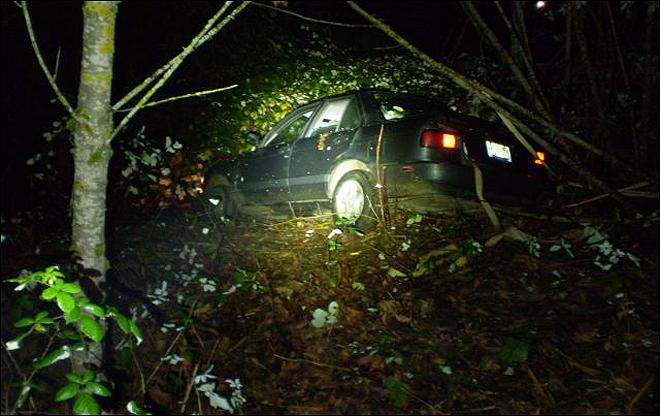 Double trouble: OSP says driver in undies crashed two cars