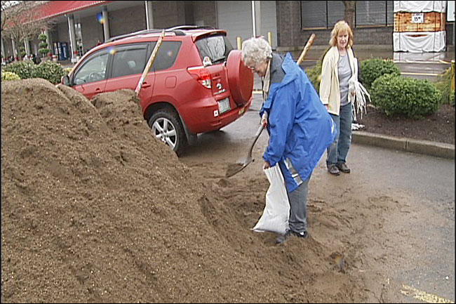 Free sand and bags available during floods