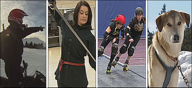 Dog sleds, sword fights, roller derby & more: Extreme Katie returns