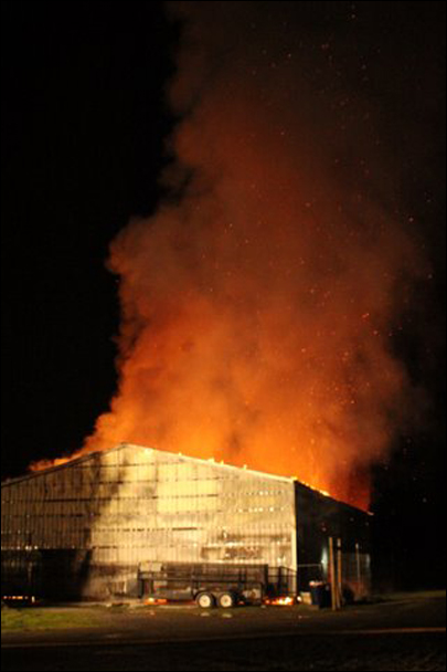 Pole Barn Fire