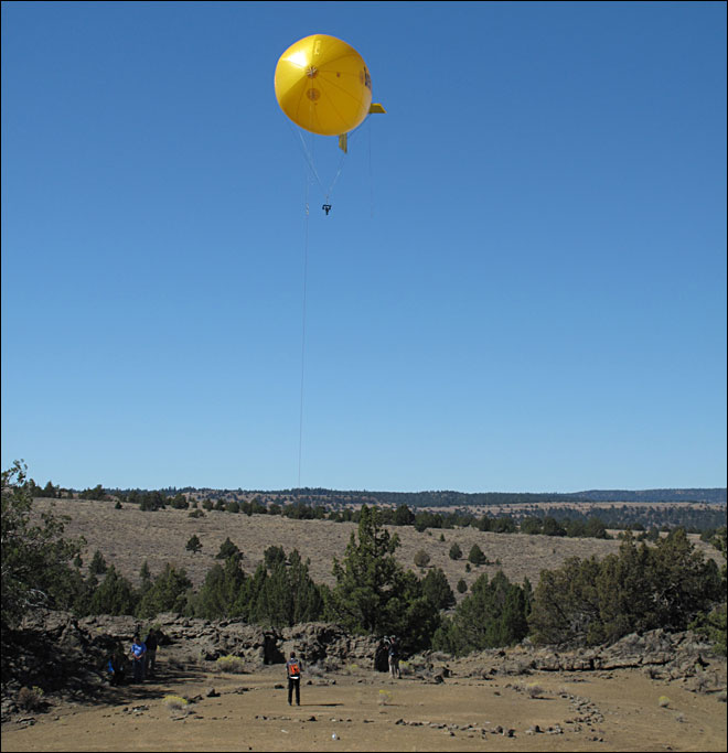 Blimp helps UO document medicine wheels in Oregon