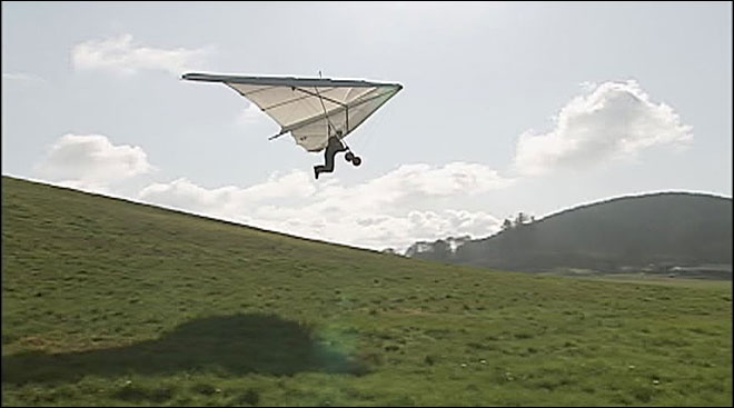 Hang gliding: 'Let's go find some wind'