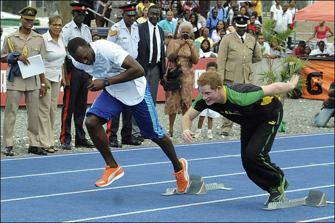 Jamaica Prince Harry Usain Bolt