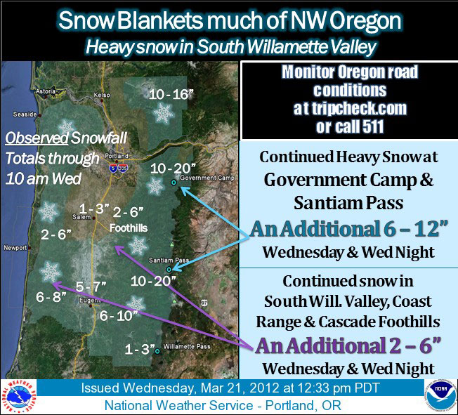 "'A truly historic ""spring"" snowstorm for Eugene '"