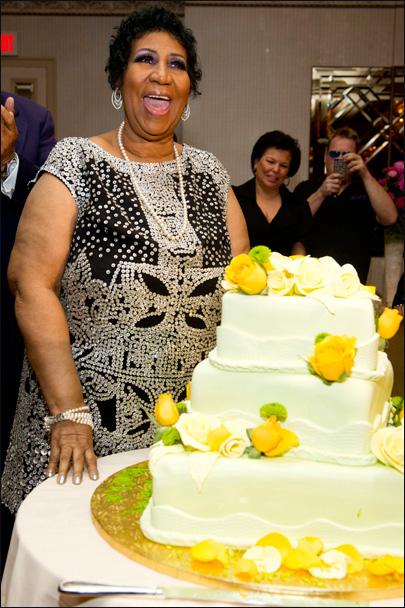 Aretha Franklin celebrates 70th, talks new music