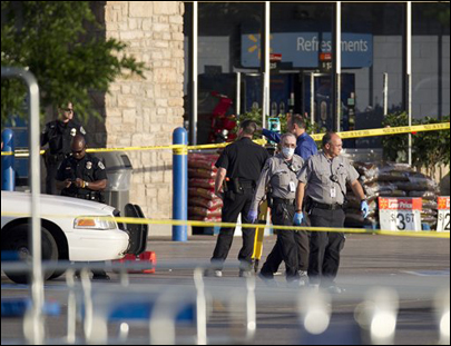 Police officer gunned down inside Texas Walmart