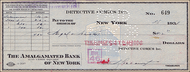 $412 check that bought Superman sold for $160,000