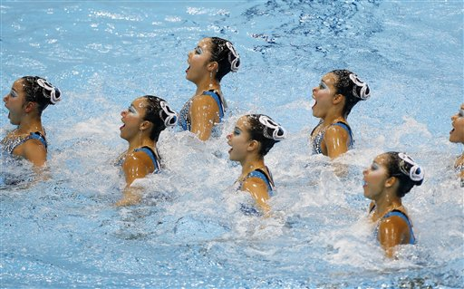 Britain Olympics Synchronised Swimming