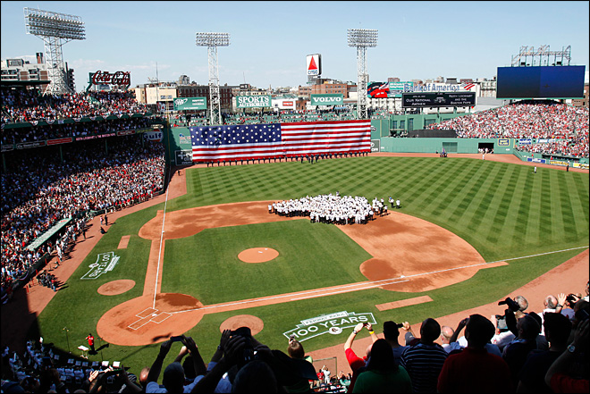 Old-timers fete Fenway Park on its 100th birthday