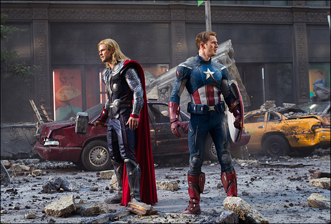 Review: &#39;Avengers&#39; hits big screen with a blast