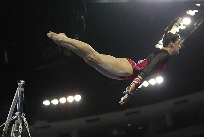 APTOPIX NCAA Gymnastics Championship