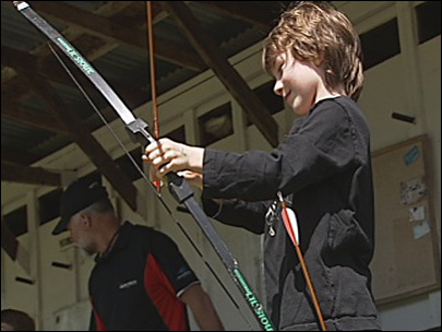 Taking aim: Archers compete in tournament