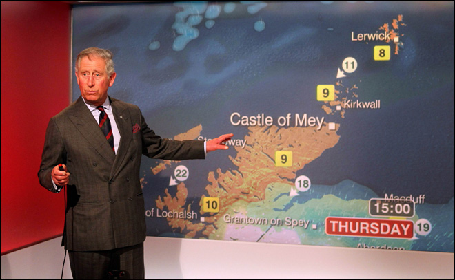 Up next on TV: The weather with Prince Charles