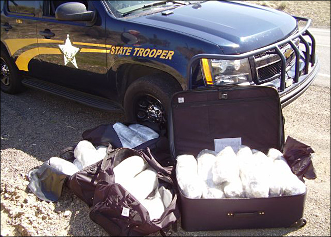Traffic stop leads OSP to 60 pounds of pot
