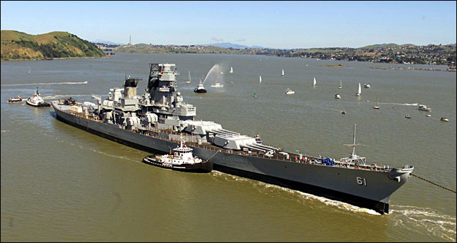 Historic battleship to become SoCal naval museum