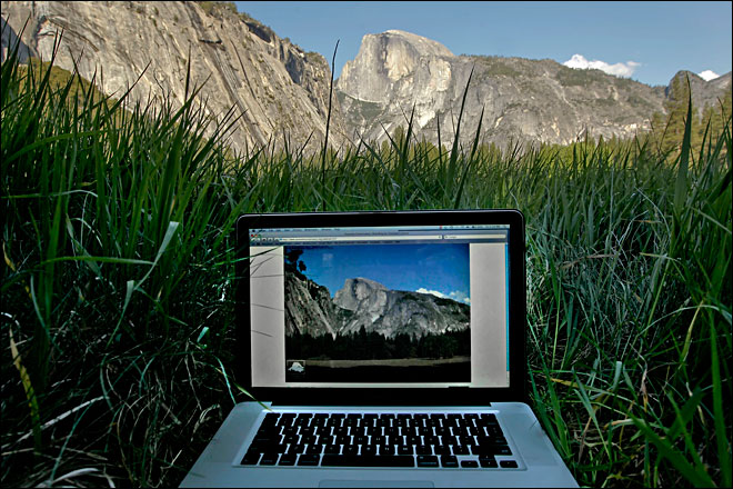 Ooh, aah: Take in national park views - by computer