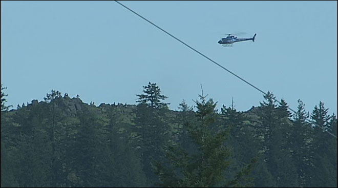 Helicopter gets injured hiker off top of Spencer Butte