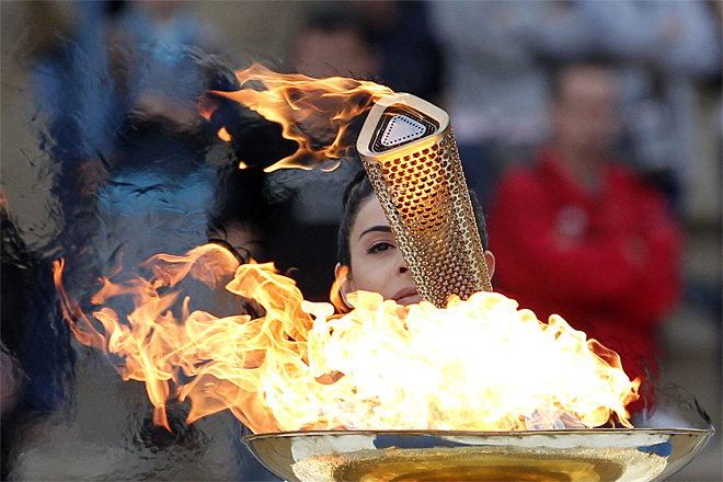 APTOPIX Greece Olympics London Flame