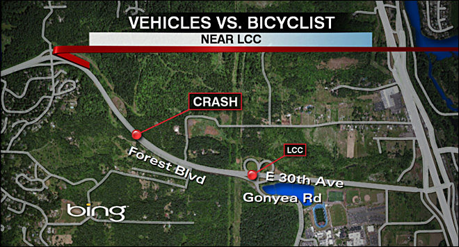 Cyclist dies after getting hit by two vehicles