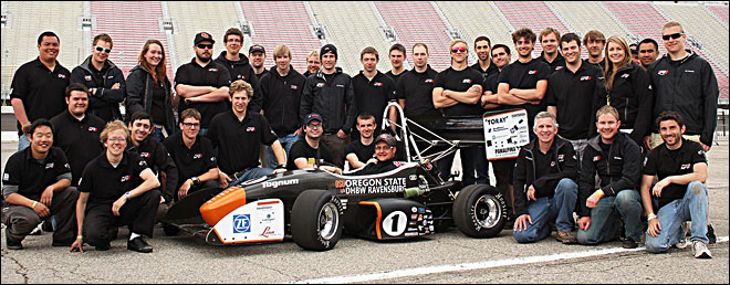 Threepeat: Speedy Beavers from OSU make car racing history