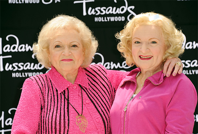 Betty White Wax Figure Unveiling At Madame Tussauds