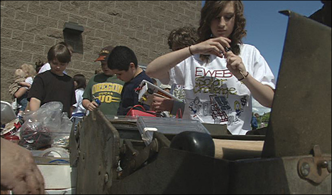 Students compete in solar car races