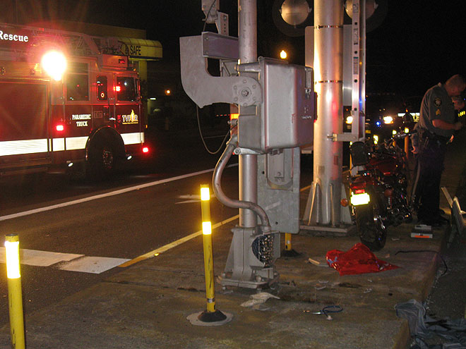 Motorcyclist on life support after hitting railroad crossing arm